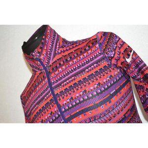 6165 Womens Nike PRO Gym Shirt 1/2 Zip Size Small